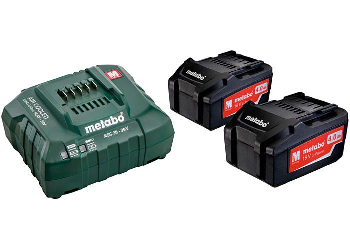 Базовый комплект METABO 2 X Li-Ion 4,0 Ач + ASC 30-36 В