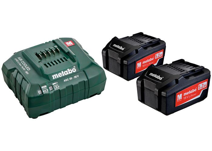Базовый комплект METABO 2 X Li-Ion 5,2 Ач + ASC 30-36 В