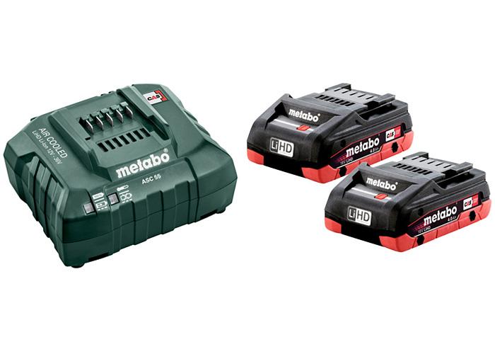 Базовый комплект METABO 2 X 18 В LiHD 4,0 Ач + ASC 55