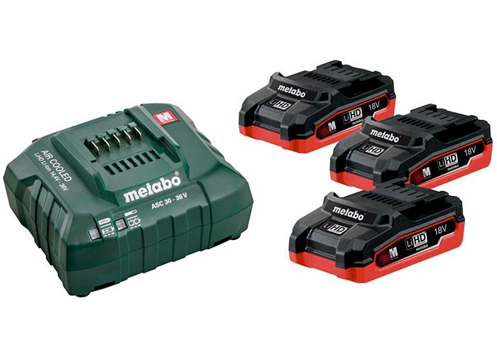 Базовый комплект METABO 3 X LiHD 3,1 Ач + ASC 30-36 В