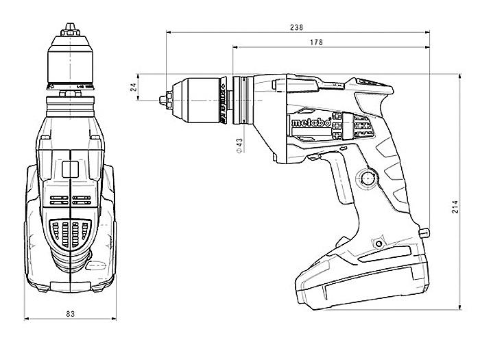 Аккумуляторный шуруповерт METABO BE 18 LTX 6 Каркас