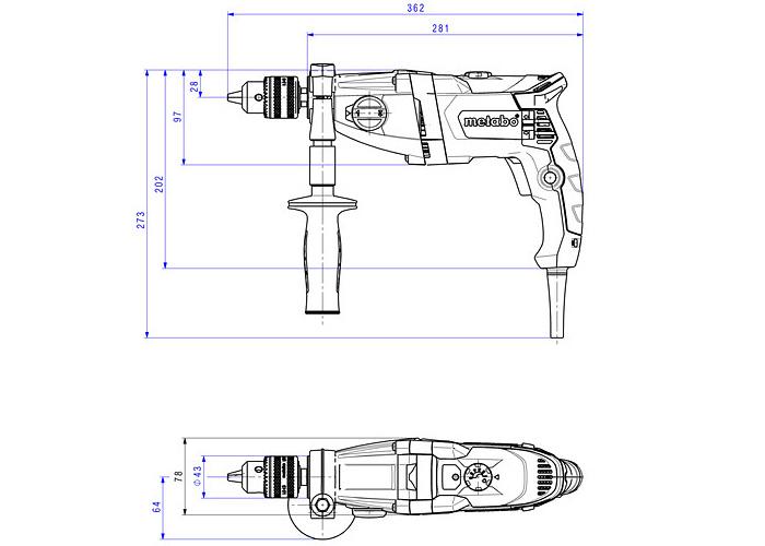 Дрель METABO BEV 1300-2 (БЗП)