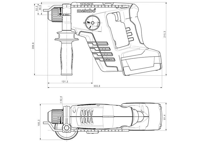 Аккумуляторный перфоратор METABO BHA 36 LTX Compact