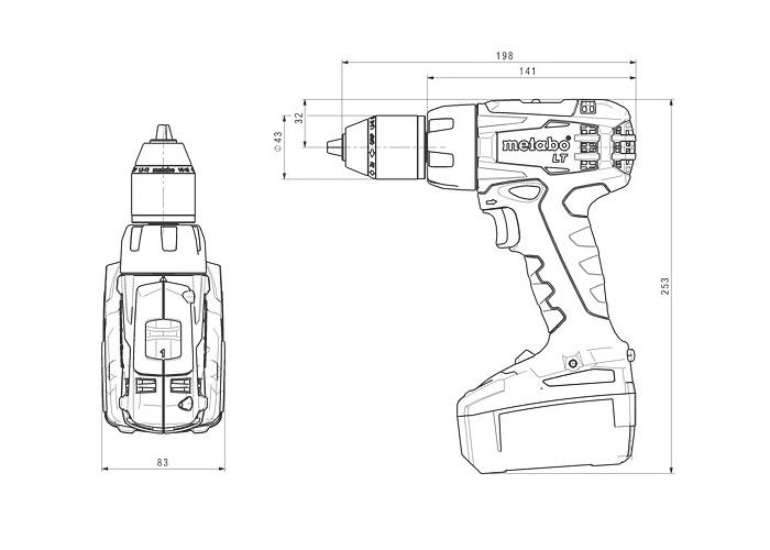 Аккумуляторный шуруповерт METABO BS 18 LT Каркас