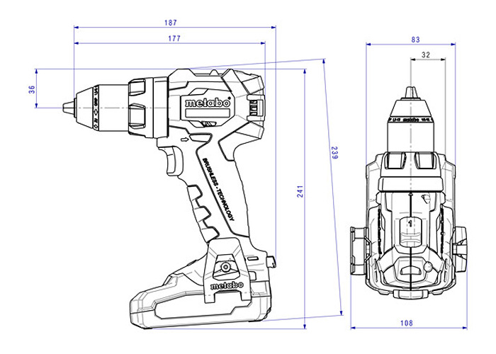 Аккумуляторный шуруповерт METABO BS 18 LT BL (3,1 Ач)