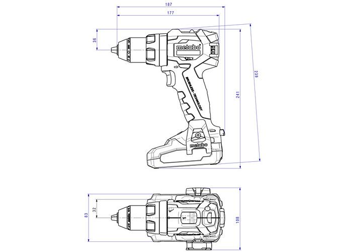 Аккумуляторный шуруповерт METABO BS 18 LT BL