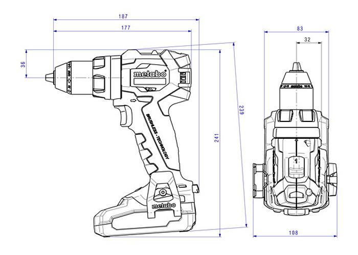 Аккумуляторный шуруповерт METABO BS 18 LT BL (4,0 Ач)