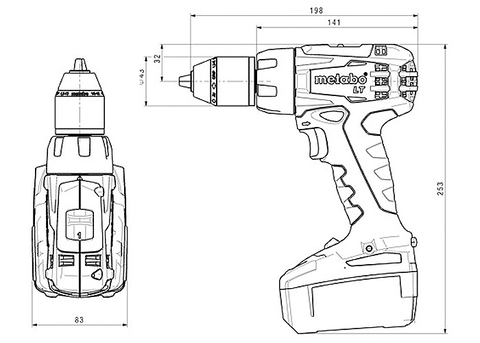 Аккумуляторный шуруповерт METABO BS 18 LT Каркас + MetaLoc