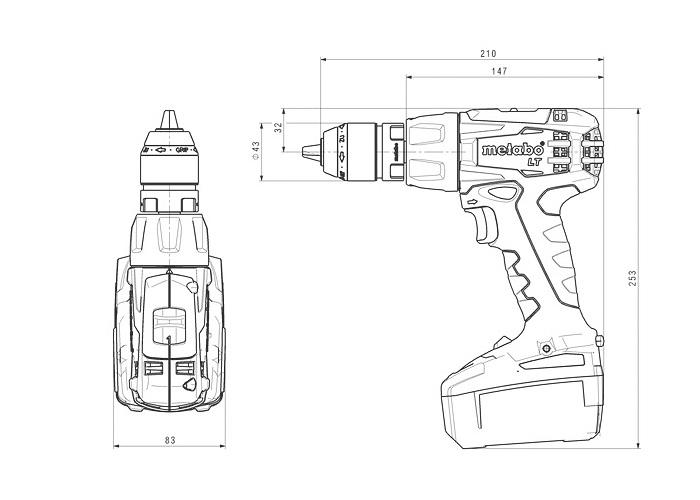 Аккумуляторный шуруповерт METABO BS 18 LT Quick Каркас