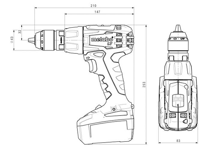 Аккумуляторный шуруповерт METABO BS 18 LT Quick Set
