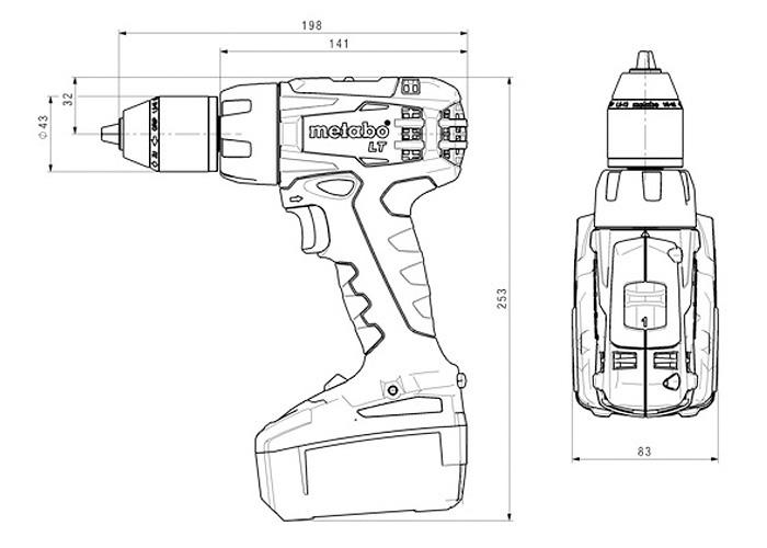 Аккумуляторный шуруповерт METABO BS 18 LT Set (3 x 4,0 Ач)