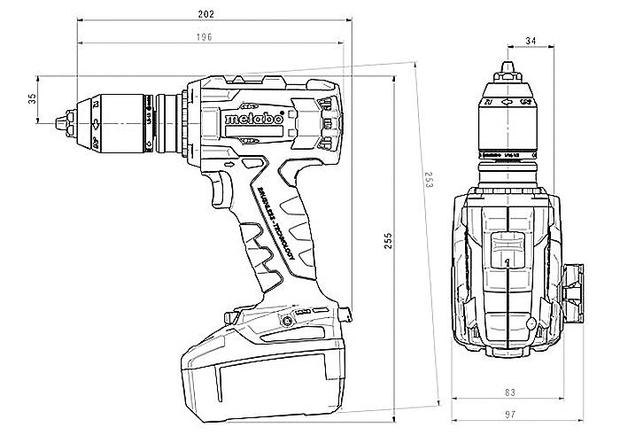 Аккумуляторный шуруповерт METABO BS 18 LTX BL I Каркас