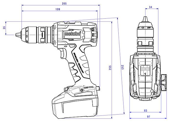 Аккумуляторный шуруповерт METABO BS 18 LTX BL Q I Каркас