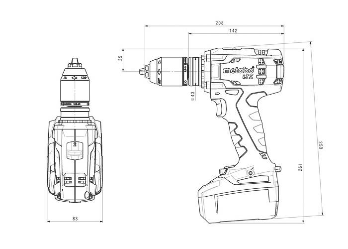 Аккумуляторный шуруповерт METABO BS 18 LTX Impuls
