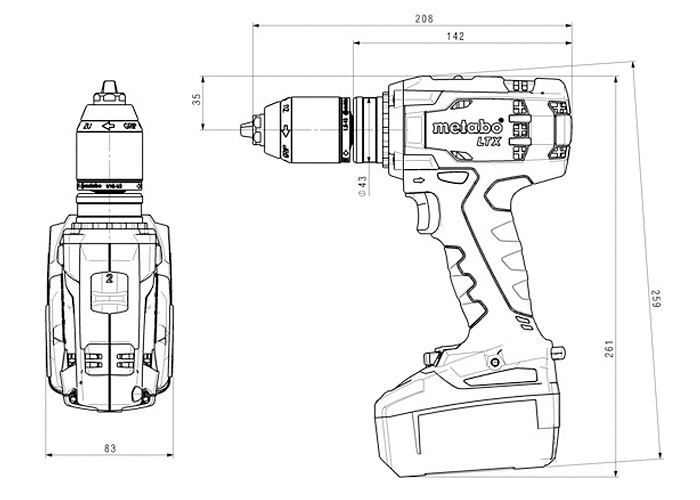 Аккумуляторный шуруповерт METABO BS 18 LTX Impuls (5,2 Ач)