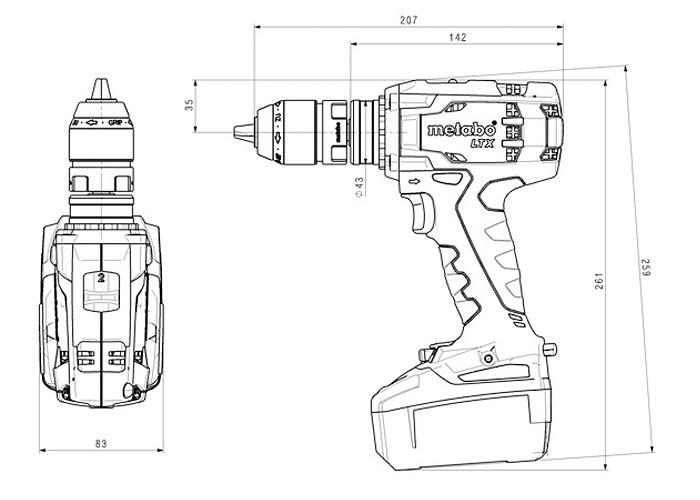 Аккумуляторный шуруповерт METABO BS 18 LTX Quick Каркас