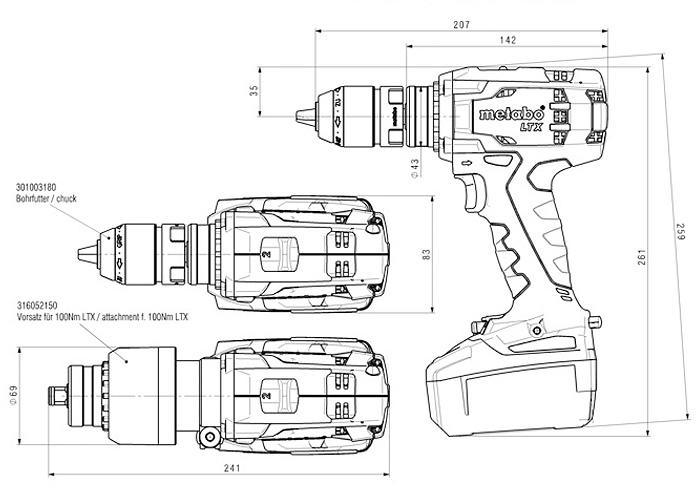Аккумуляторный шуруповерт METABO BS 18 LTX-X3 Quick