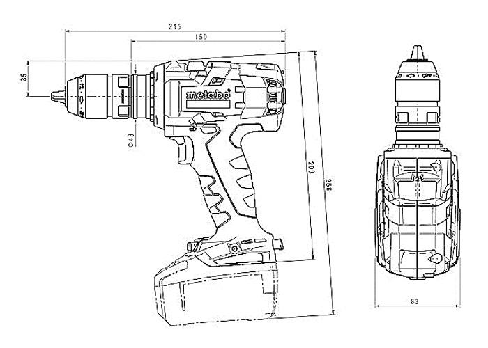 Аккумуляторный шуруповерт METABO BS 18 LTX-3 BL Q I Каркас + MetaLoc