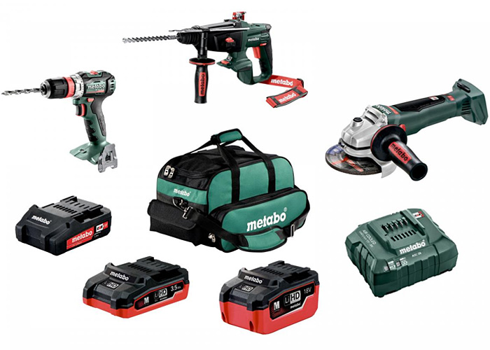 Набор инструментов METABO Combo Set UA 1