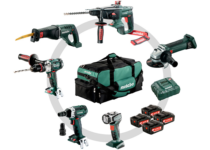Набор инструментов METABO Combo Set 6.1 (4 x Li-Ion 4,0 Ah)