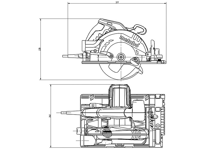Ручная дисковая пила METABO KS 55 FS Set