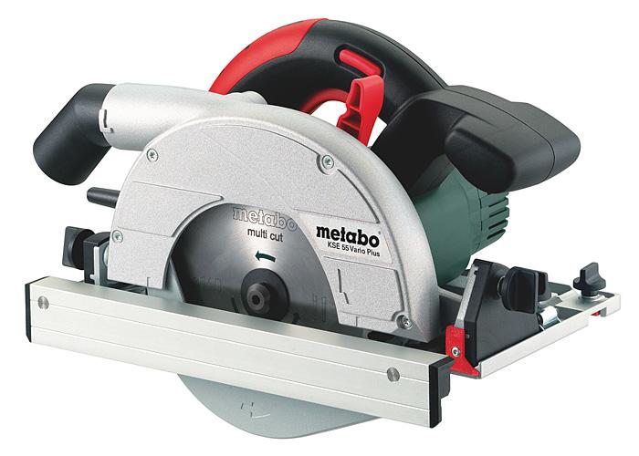 Ручная дисковая пила METABO KSE 55 Vario Plus + MetaLoc + шина
