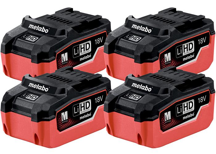 Набор аккумуляторных блоков METABO LiHD 18 В - 5,5 Ач (4 шт.)