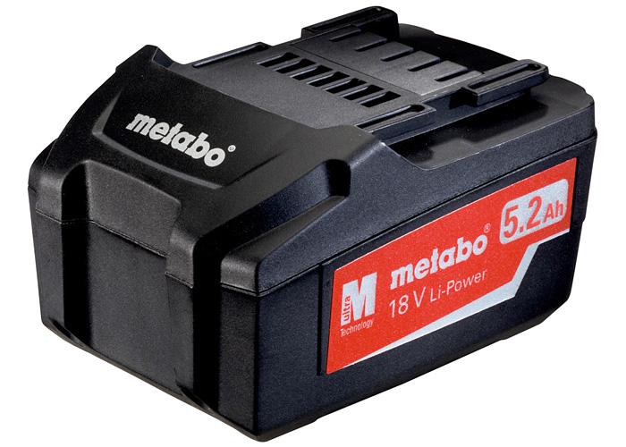 Аккумуляторный блок METABO Li-Ion 18 В - 5,2 Ач