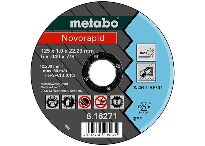Отрезной круг  METABO Novorapid 125 мм (616271000)