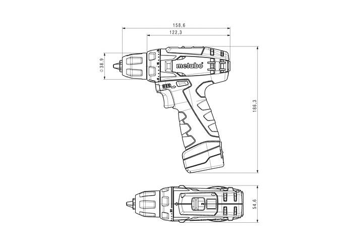 Аккумуляторный шуруповерт METABO PowerMaxx BS Каркас