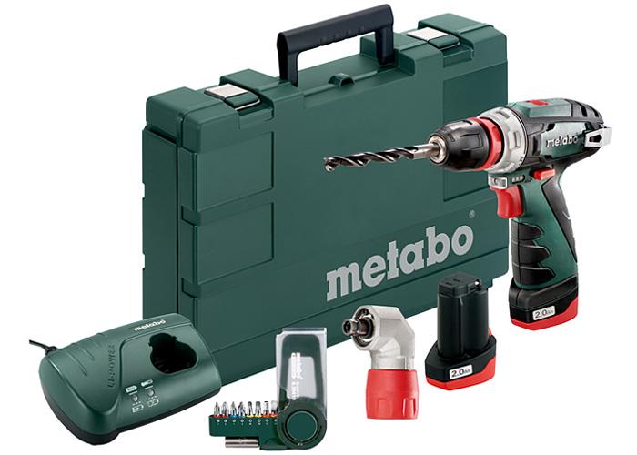 Аккумуляторный шуруповерт METABO PowerMaxx BS Quick Basic Set + набор бит SP (9 шт.) + насадка