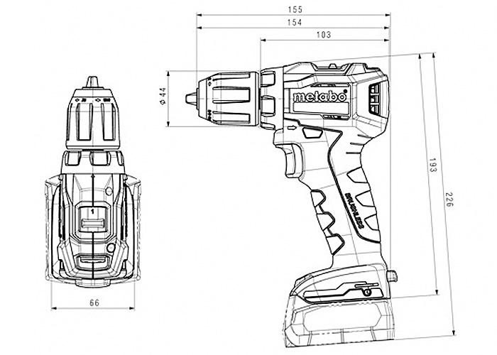 Аккумуляторный шуруповерт METABO PowerMaxx BS 12 BL  (2 x 4,0 Ач)