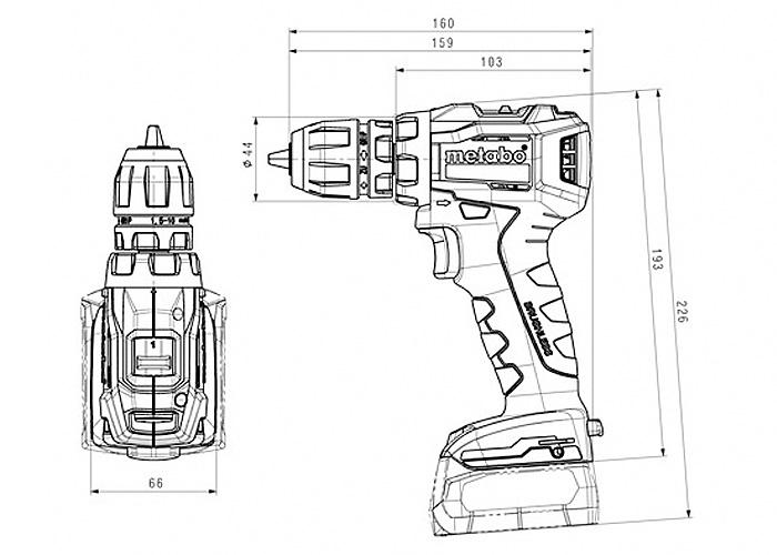 Аккумуляторный шуруповерт METABO PowerMaxx BS 12 BL Q Каркас