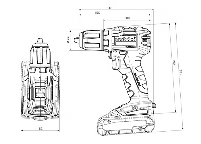 Аккумуляторный шуруповерт METABO BS 18 L BL Каркас