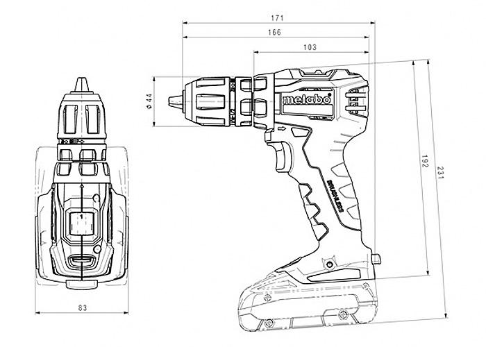 Аккумуляторный шуруповерт METABO BS 18 L BL Q (2 x 4,0 Ач)