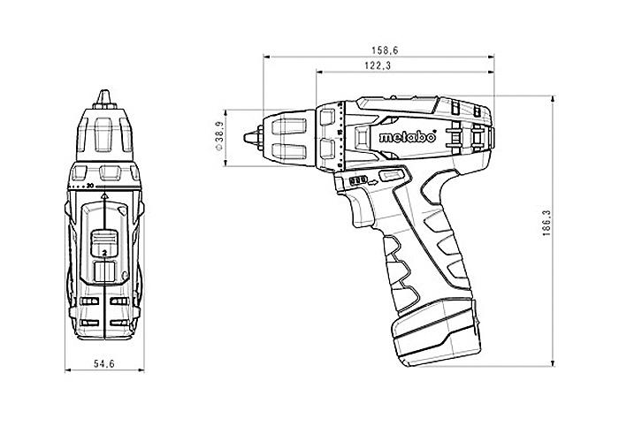 Аккумуляторный шуруповерт METABO PowerMaxx BS (2.0 Ач)