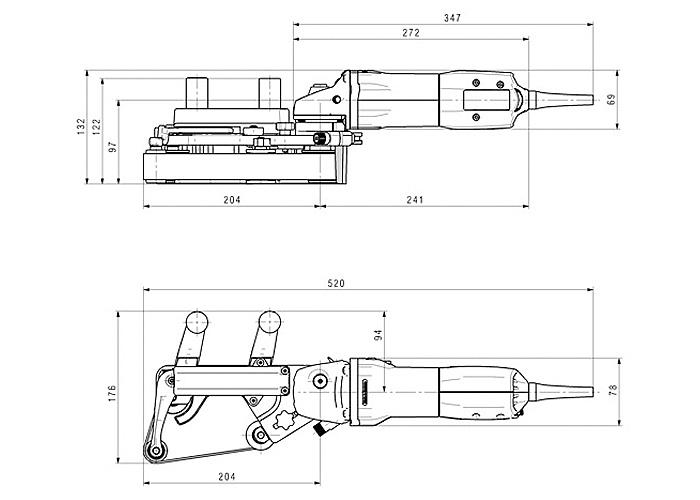 Шлифмашина для труб METABO RBE 9-60 Set
