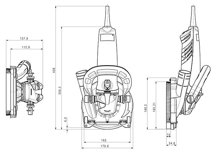 Шлифмашина по бетону METABO RS 14-125 + поликристаллический круг