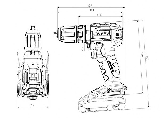 Аккумуляторный шуруповерт METABO SB 18 L BL Каркас