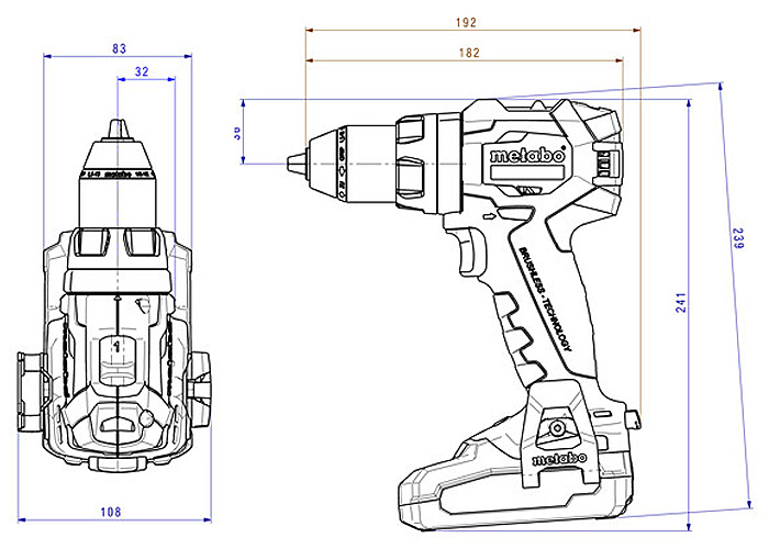 Аккумуляторный шуруповерт METABO SB 18 LT BL (4,0 Ач)