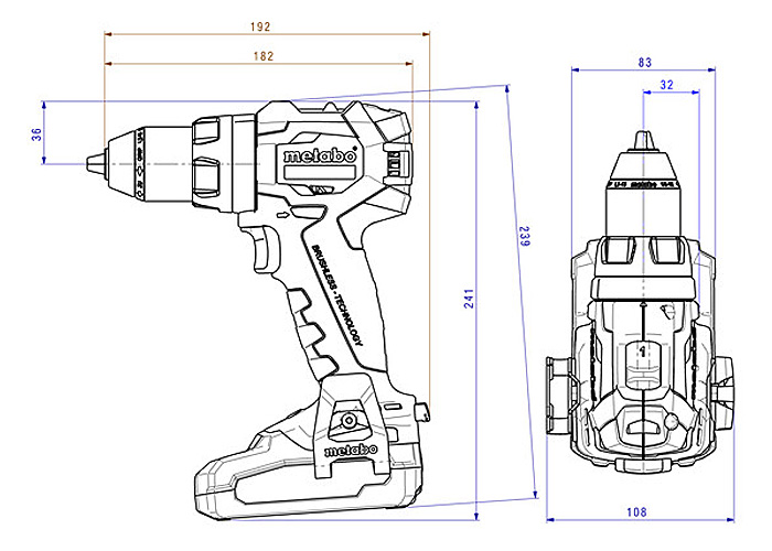 Аккумуляторный шуруповерт METABO SB 18 LT BL (3,1 Ач)