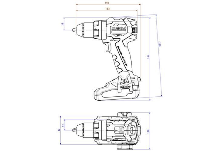 Аккумуляторный шуруповерт METABO SB 18 LT BL (3,5 Ач)