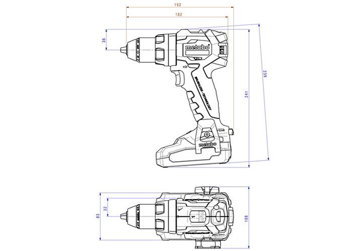 Аккумуляторный шуруповерт METABO SB 18 LT BL
