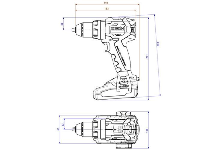 Аккумуляторный шуруповерт METABO SB 18 LT BL LiHD Set (3,5 Ач)