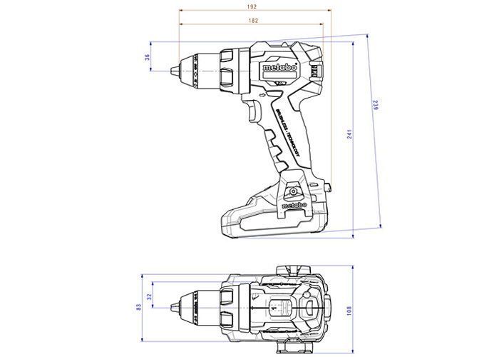 Аккумуляторный шуруповерт METABO SB 18 LT BL LiHD Set (4,0 Ач)