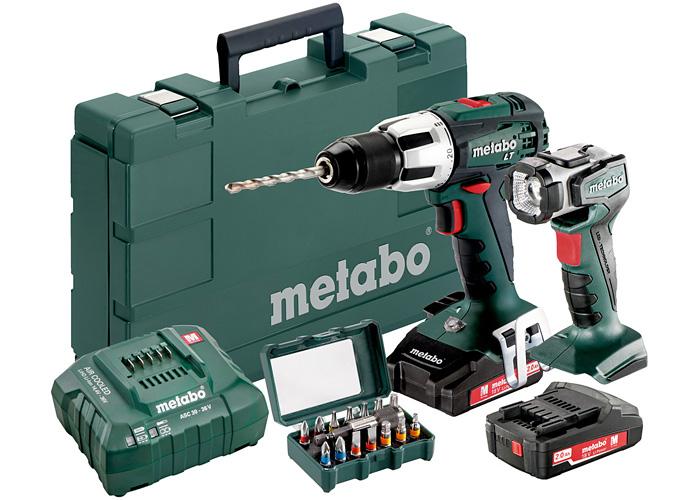 Аккумуляторный шуруповерт METABO SB 18 LT Set + ULA LED + набор бит SP 15 шт