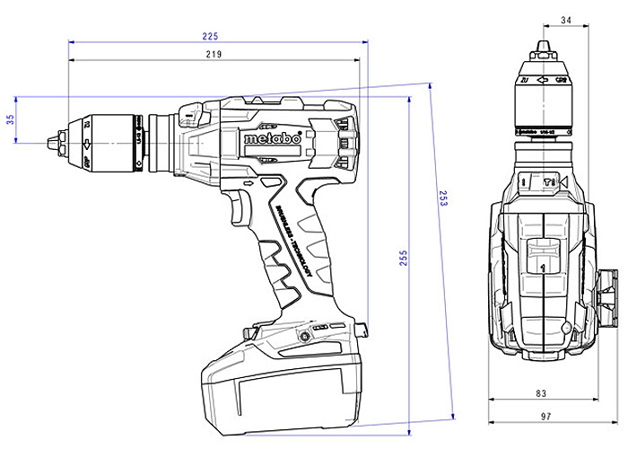 Аккумуляторный шуруповерт METABO SB 18 LTX BL I (4,0 Ач)