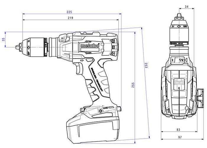Аккумуляторный шуруповерт METABO SB 18 LTX BL I (5,2 Ач)