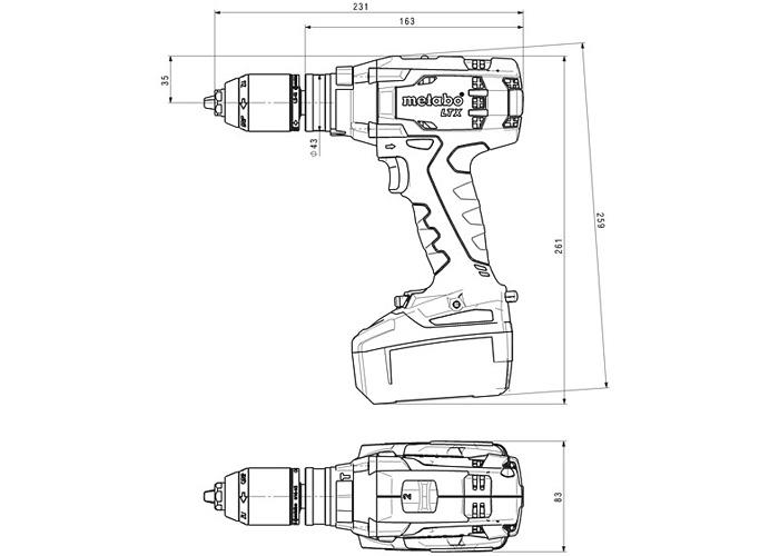 Аккумуляторный шуруповерт METABO SB 18 LTX Impuls