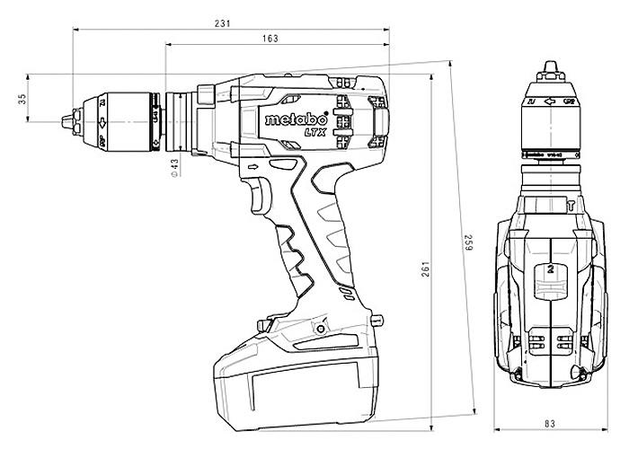 Аккумуляторный шуруповерт METABO SB 18 LTX Impuls Каркас